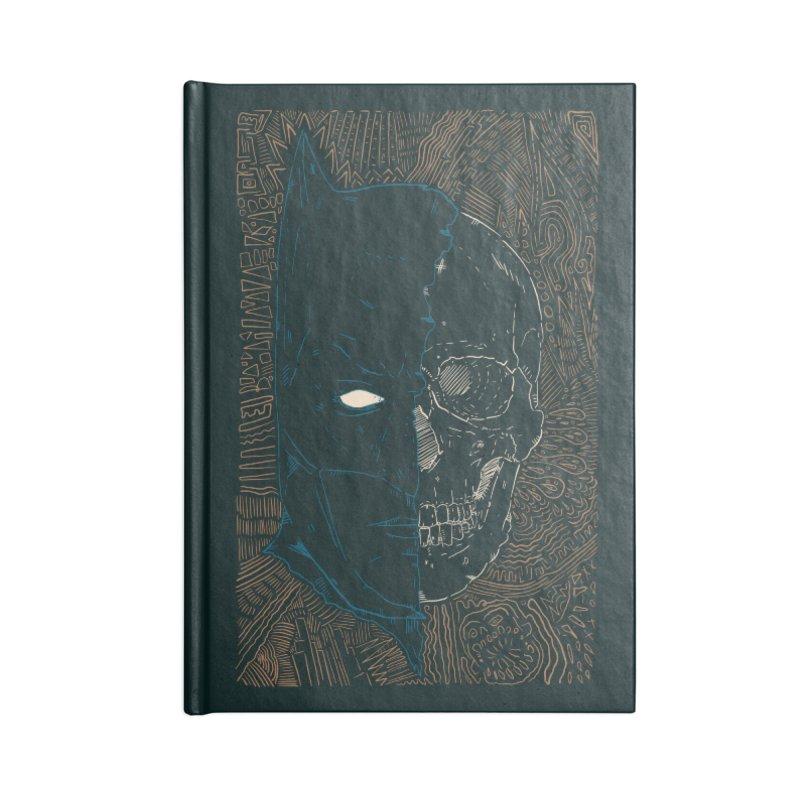 Detective Skull Accessories Blank Journal Notebook by Krist Norsworthy Art & Design