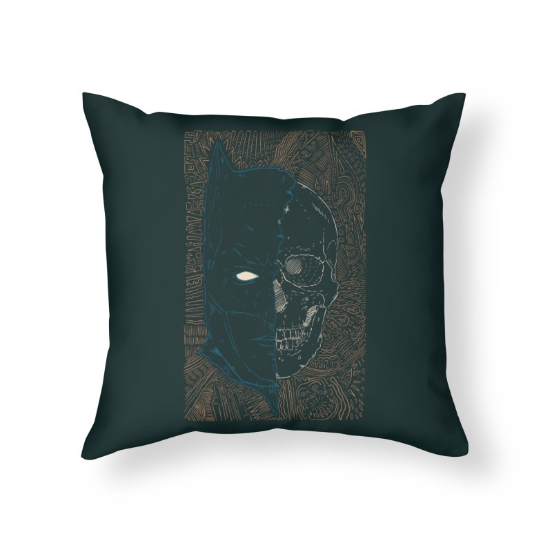 Detective Skull Home Throw Pillow by Krist Norsworthy Art & Design