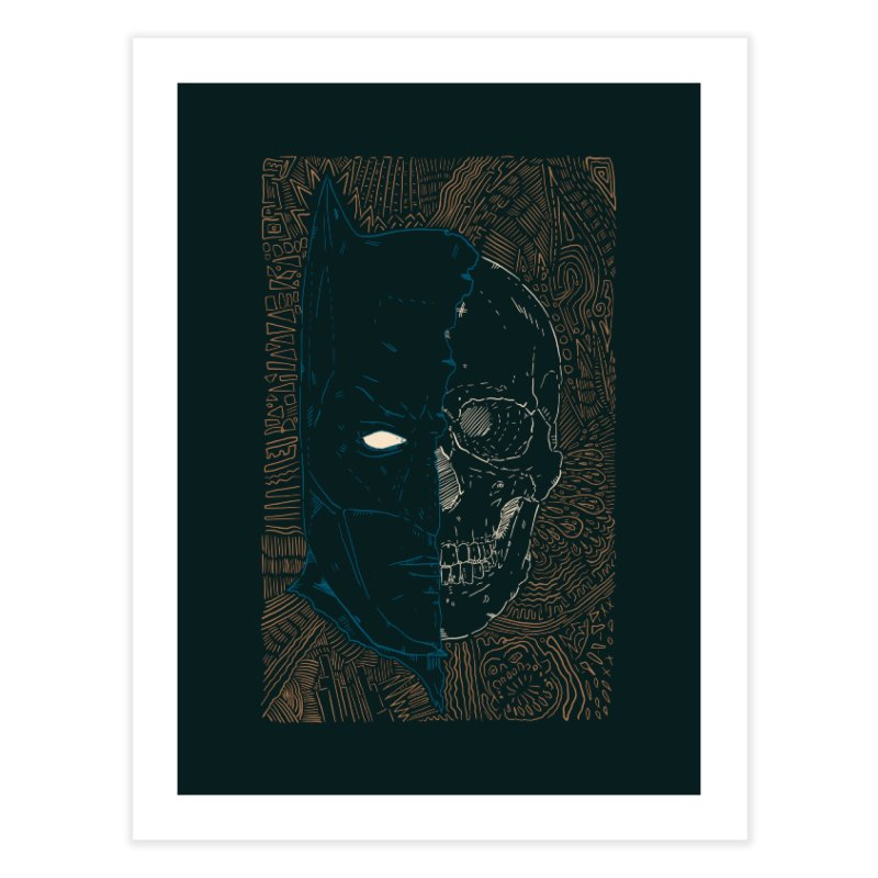 Detective Skull Home Fine Art Print by Krist Norsworthy Art & Design