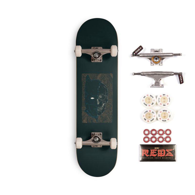 Detective Skull Accessories Complete - Pro Skateboard by Krist Norsworthy Art & Design