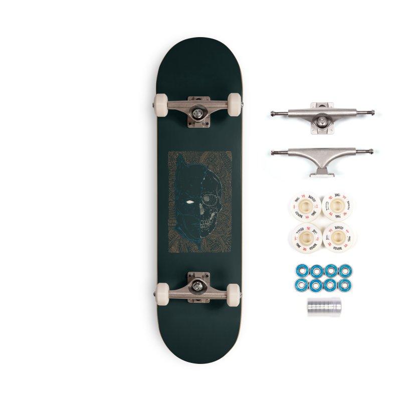 Detective Skull Accessories Complete - Premium Skateboard by Krist Norsworthy Art & Design