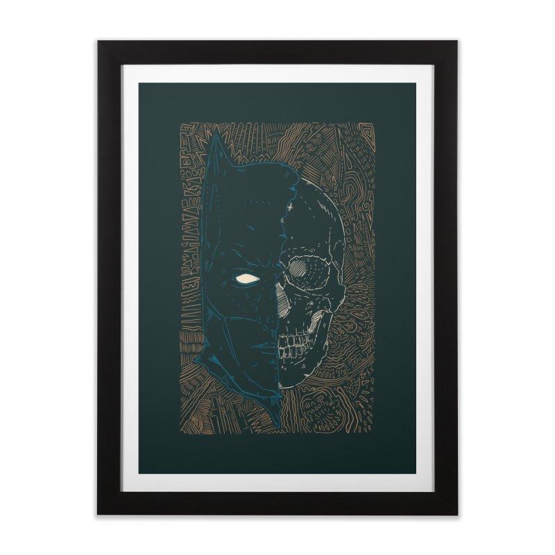 Detective Skull Home Framed Fine Art Print by Krist Norsworthy Art & Design