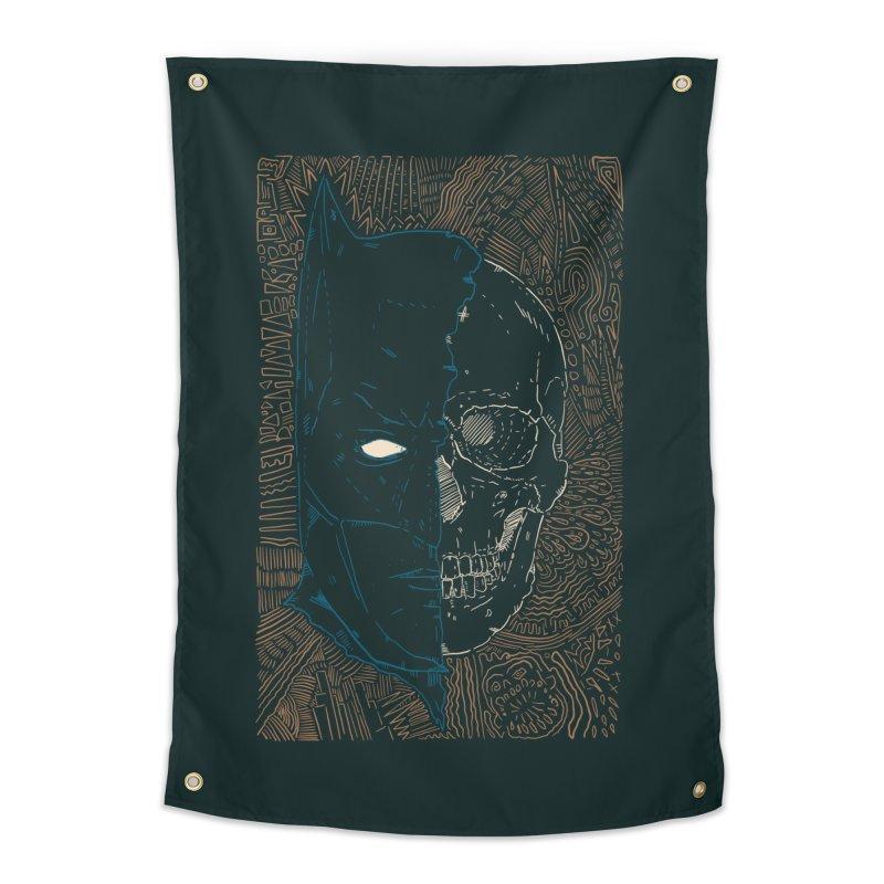 Detective Skull Home Tapestry by Krist Norsworthy Art & Design