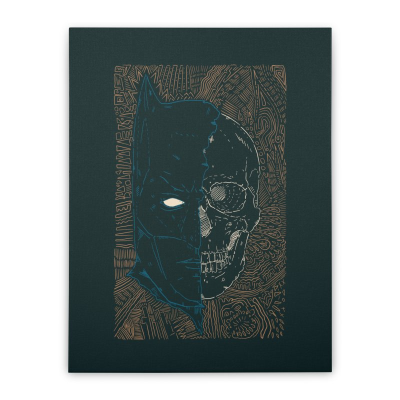 Detective Skull Home Stretched Canvas by Krist Norsworthy Art & Design