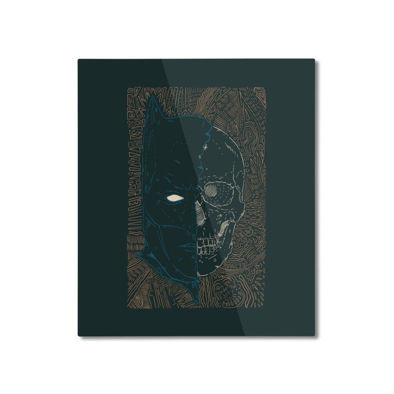 Detective Skull Home Mounted Aluminum Print by Krist Norsworthy Art & Design