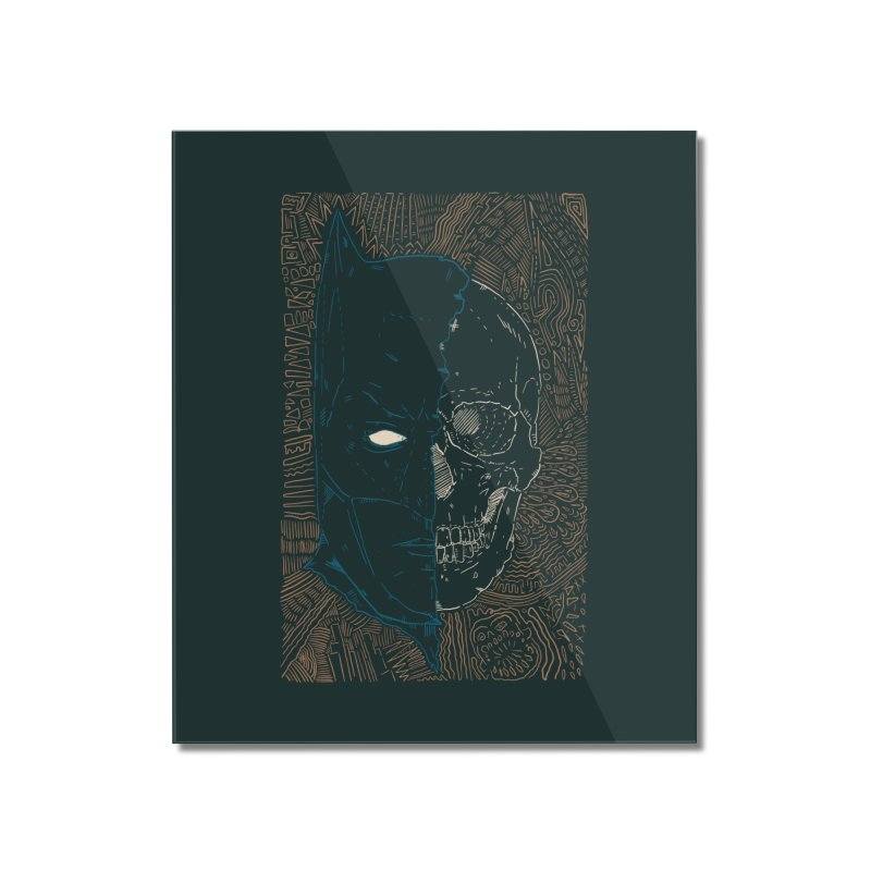 Detective Skull Home Mounted Acrylic Print by Krist Norsworthy Art & Design