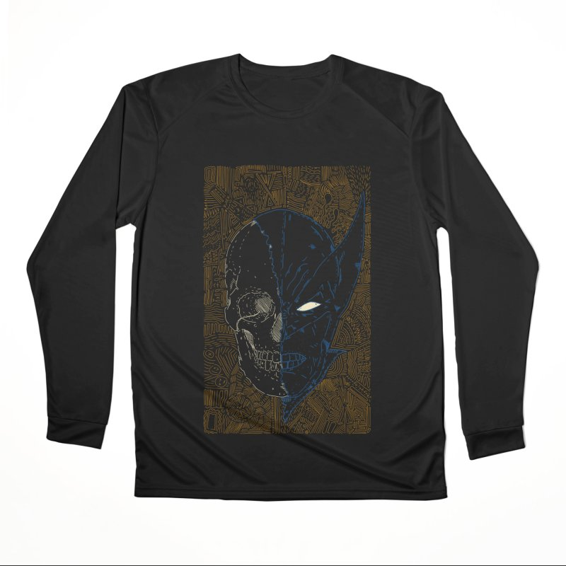 Uncanny Skull Men's Performance Longsleeve T-Shirt by Krist Norsworthy Art & Design