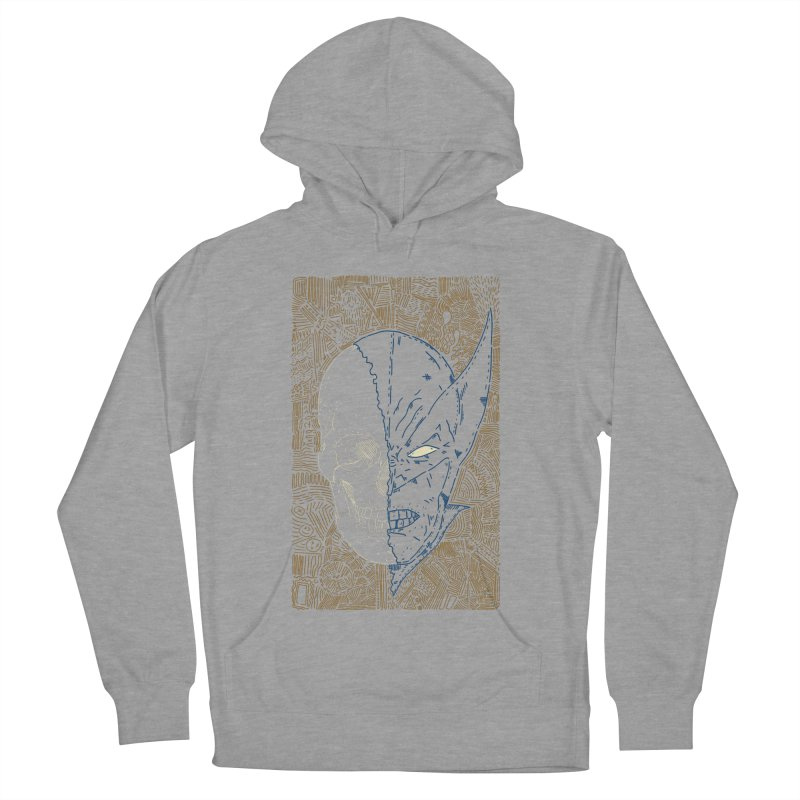 Uncanny Skull Men's French Terry Pullover Hoody by Krist Norsworthy Art & Design