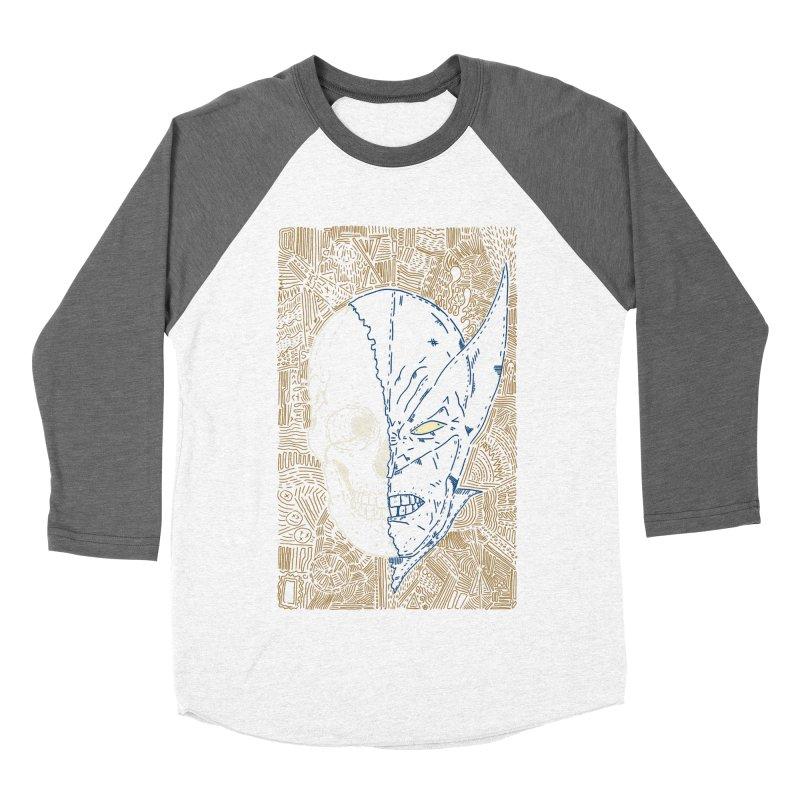 Uncanny Skull Women's Baseball Triblend Longsleeve T-Shirt by Krist Norsworthy Art & Design