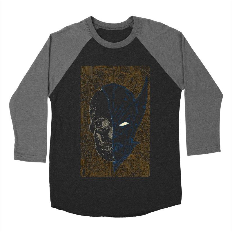 Uncanny Skull Men's Baseball Triblend Longsleeve T-Shirt by Krist Norsworthy Art & Design