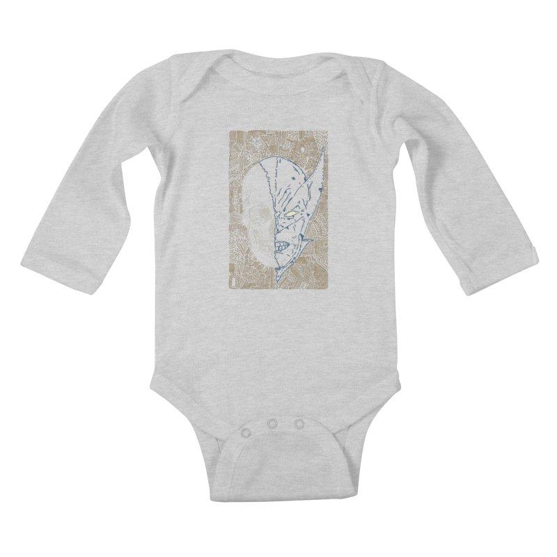 Uncanny Skull Kids Baby Longsleeve Bodysuit by Krist Norsworthy Art & Design
