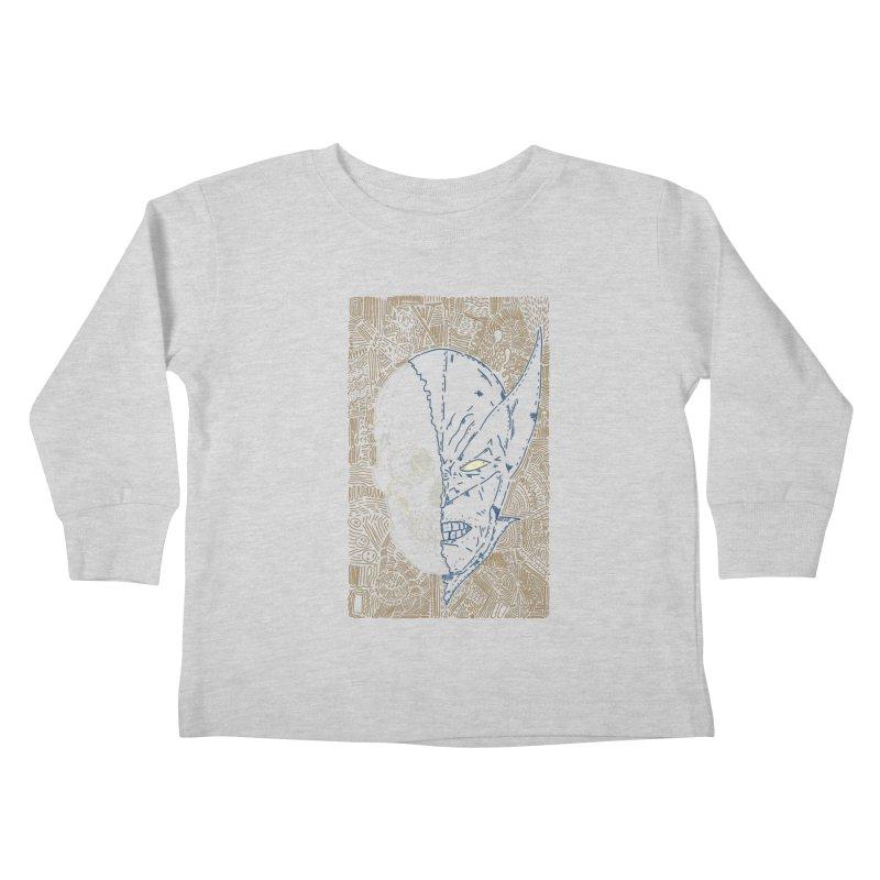 Uncanny Skull Kids Toddler Longsleeve T-Shirt by Krist Norsworthy Art & Design