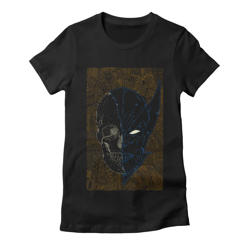 Uncanny Skull Women's Fitted T-Shirt by Krist Norsworthy Art & Design