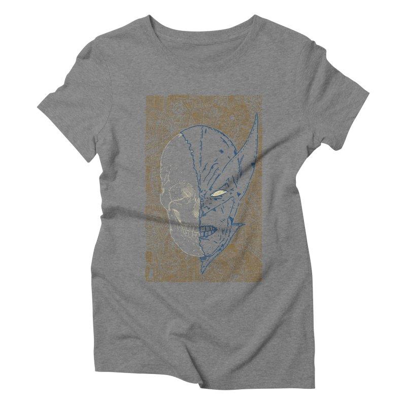 Uncanny Skull Women's Triblend T-Shirt by Krist Norsworthy Art & Design
