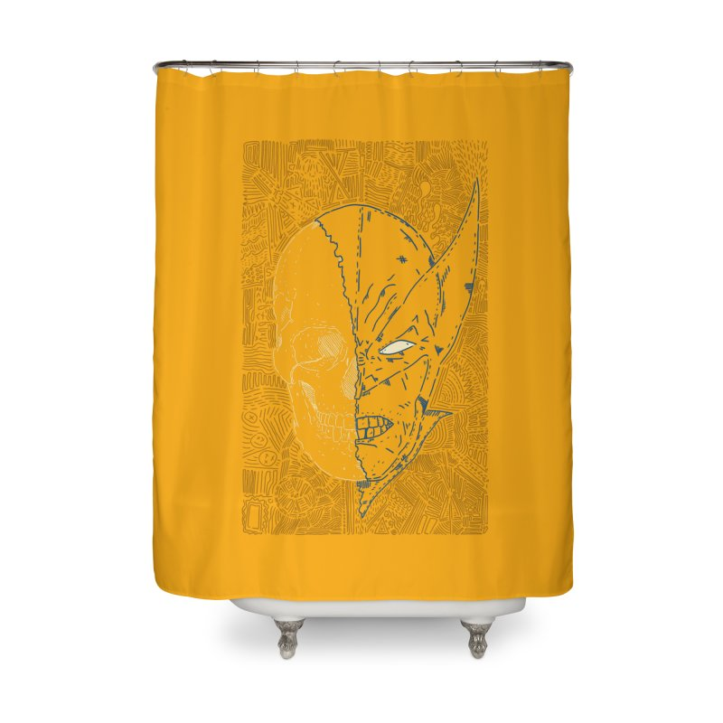 Uncanny Skull Home Shower Curtain by Krist Norsworthy Art & Design