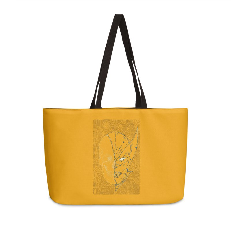 Uncanny Skull Accessories Weekender Bag Bag by Krist Norsworthy Art & Design