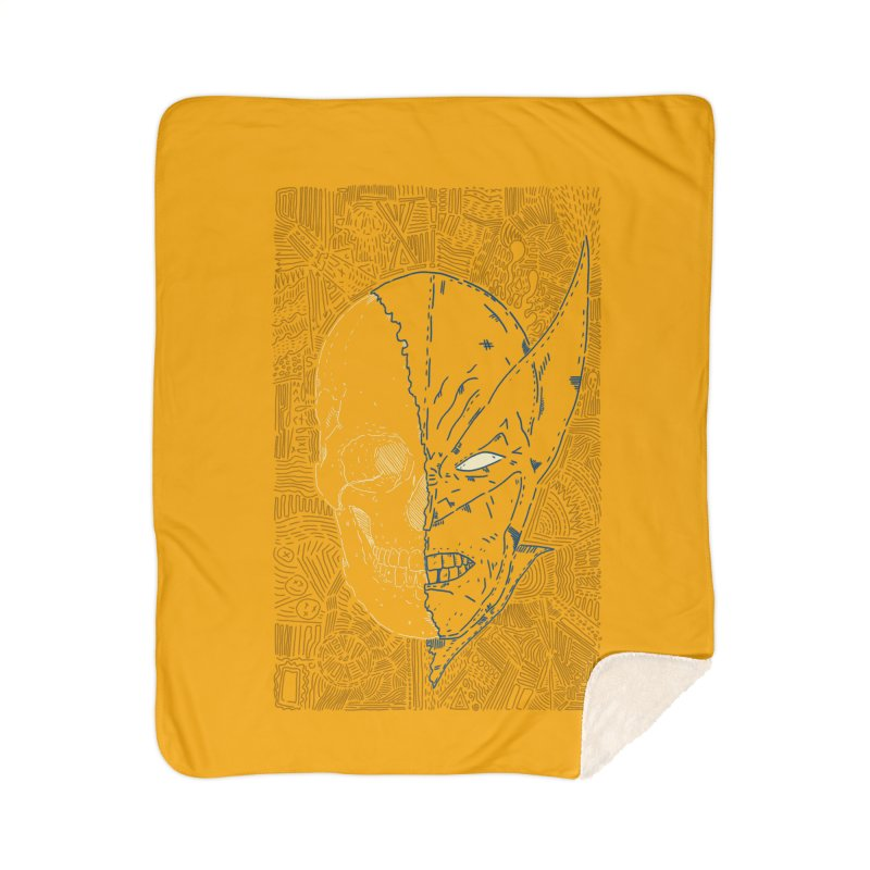 Uncanny Skull Home Blanket by Krist Norsworthy Art & Design