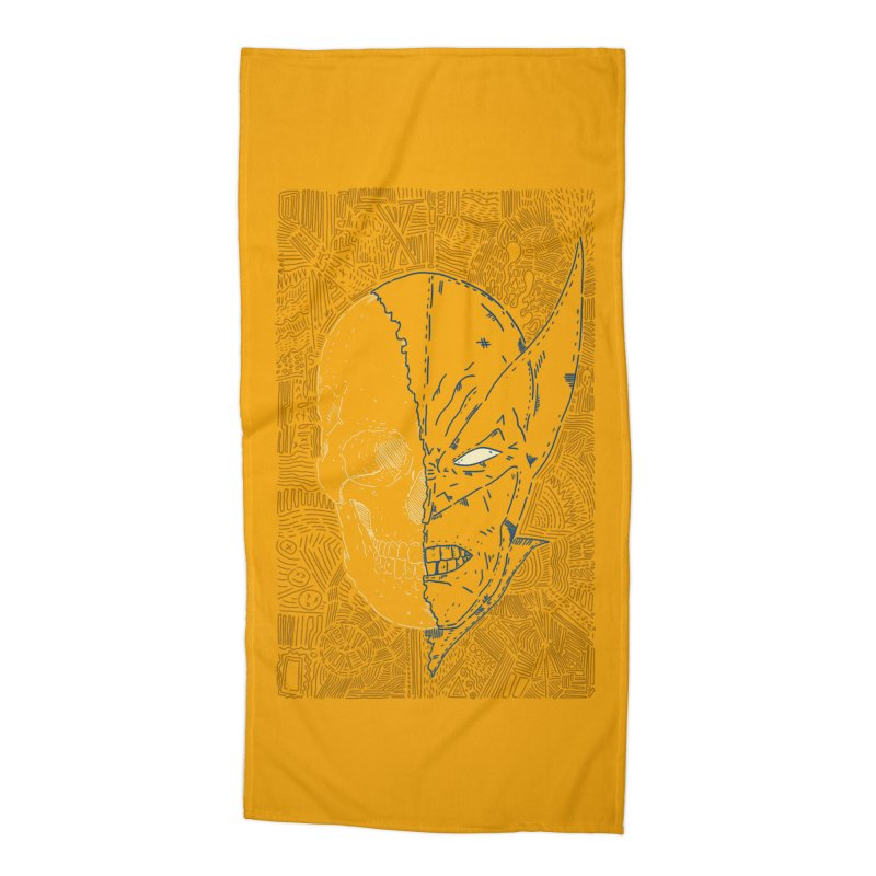 Uncanny Skull Accessories Beach Towel by Krist Norsworthy Art & Design
