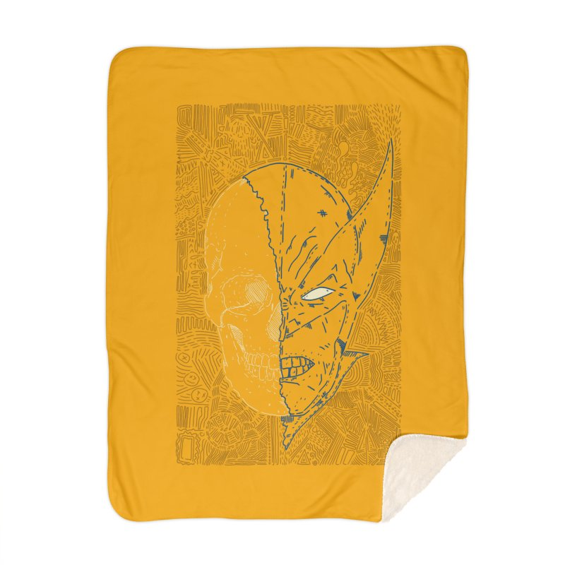 Uncanny Skull Home Blanket by Krist Norsworthy Art & Design