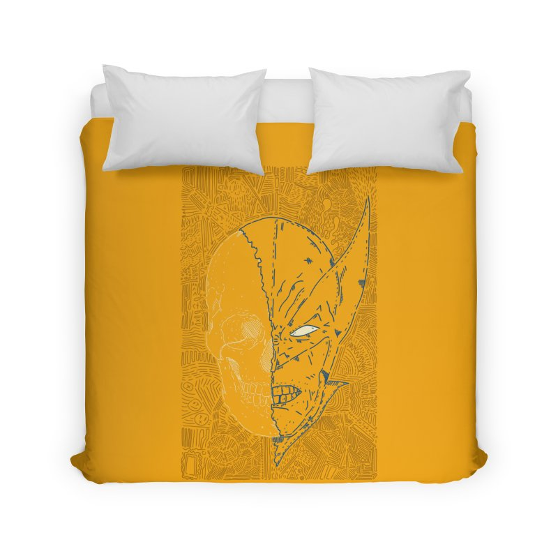 Uncanny Skull Home Duvet by Krist Norsworthy Art & Design