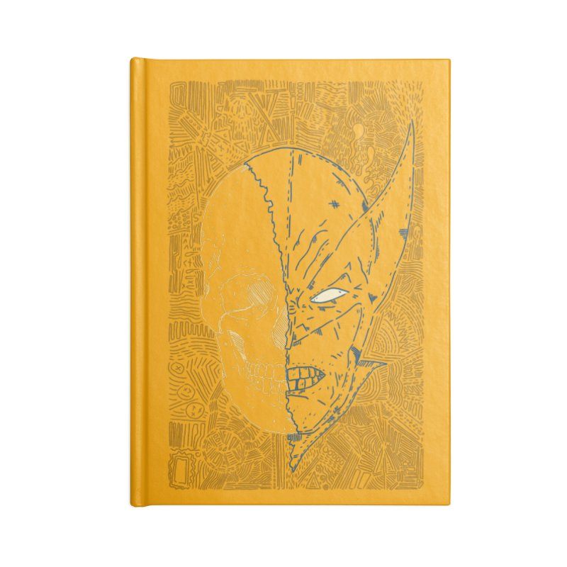 Uncanny Skull Accessories Lined Journal Notebook by Krist Norsworthy Art & Design