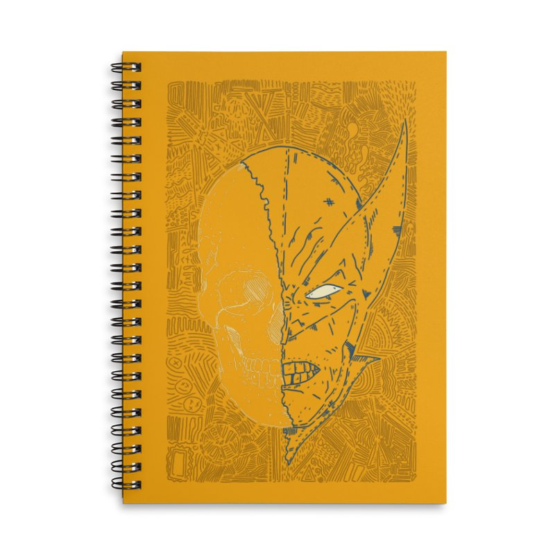 Uncanny Skull Accessories Lined Spiral Notebook by Krist Norsworthy Art & Design