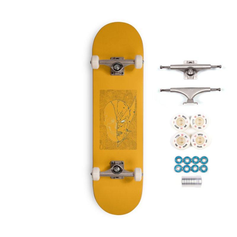 Uncanny Skull Accessories Complete - Premium Skateboard by Krist Norsworthy Art & Design