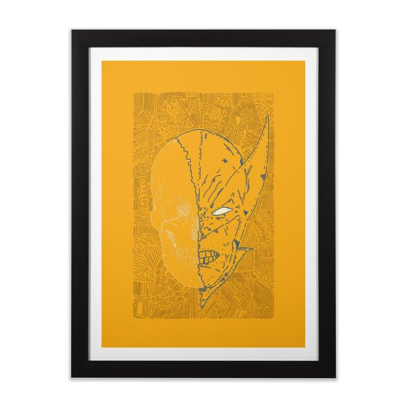 Uncanny Skull Home Framed Fine Art Print by Krist Norsworthy Art & Design
