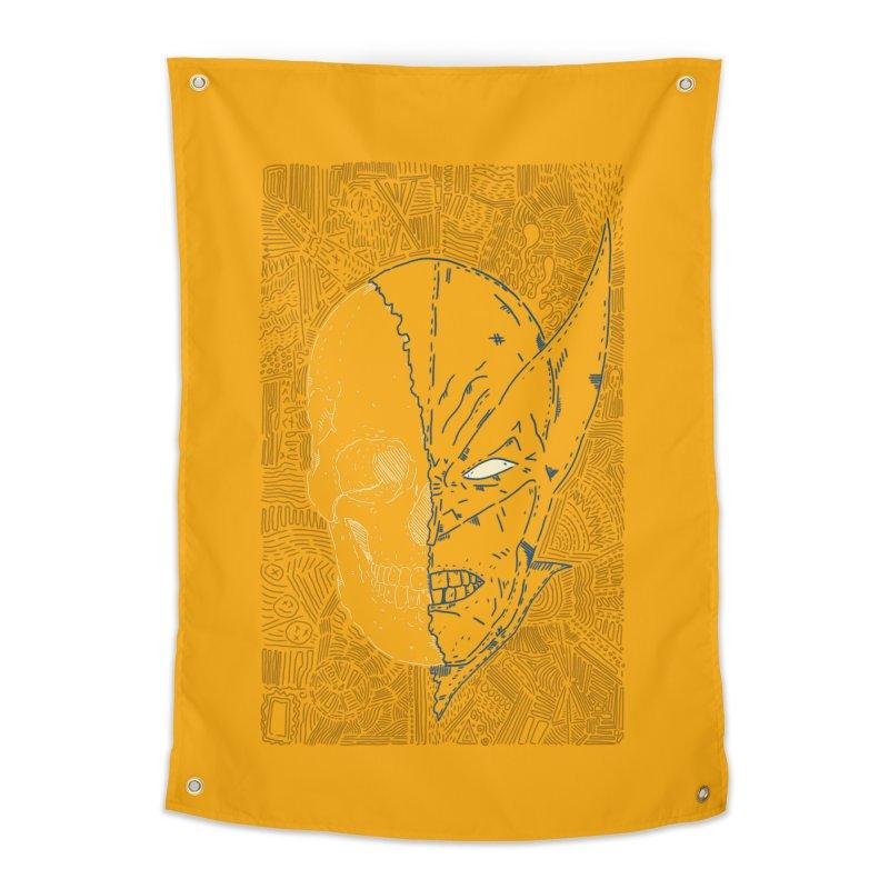 Uncanny Skull Home Tapestry by Krist Norsworthy Art & Design