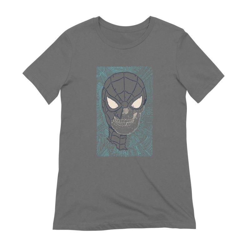 Web Slinger Skull Women's T-Shirt by Krist Norsworthy Art & Design