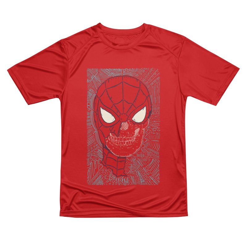 Web Slinger Skull Women's Performance Unisex T-Shirt by Krist Norsworthy Art & Design
