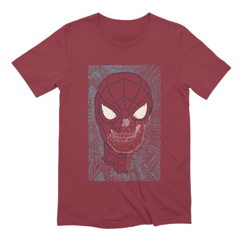 Web Slinger Skull Men's Extra Soft T-Shirt by Krist Norsworthy Art & Design