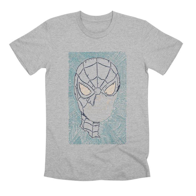 Web Slinger Skull Men's Premium T-Shirt by Krist Norsworthy Art & Design