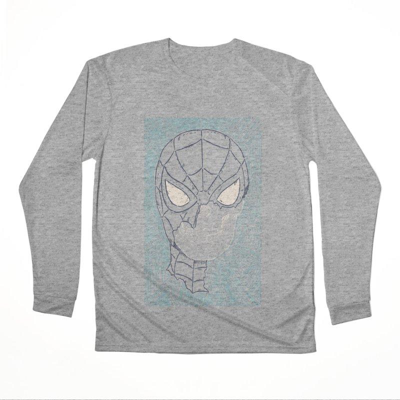 Web Slinger Skull Men's Performance Longsleeve T-Shirt by Krist Norsworthy Art & Design