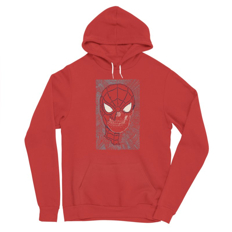 Web Slinger Skull Men's Pullover Hoody by Krist Norsworthy Art & Design