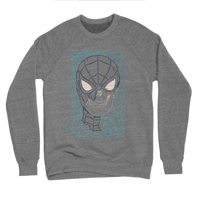 Web Slinger Skull Men's Sponge Fleece Sweatshirt by Krist Norsworthy Art & Design