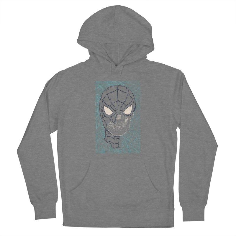 Web Slinger Skull Women's Pullover Hoody by Krist Norsworthy Art & Design