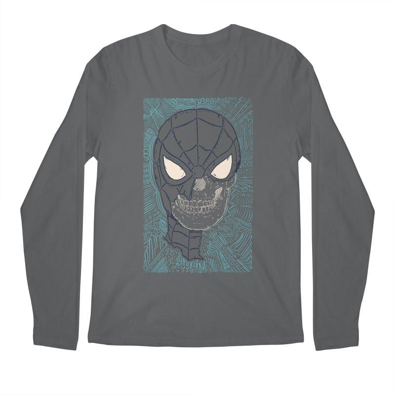 Web Slinger Skull Men's Regular Longsleeve T-Shirt by Krist Norsworthy Art & Design