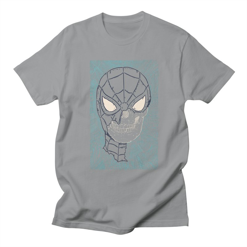 Web Slinger Skull Men's Regular T-Shirt by Krist Norsworthy Art & Design