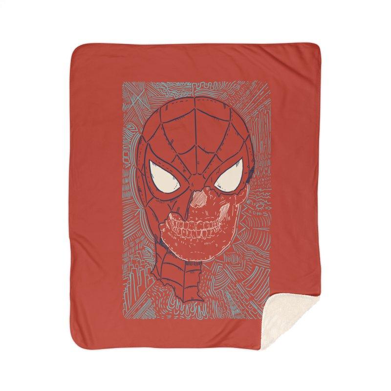 Web Slinger Skull Home Blanket by Krist Norsworthy Art & Design