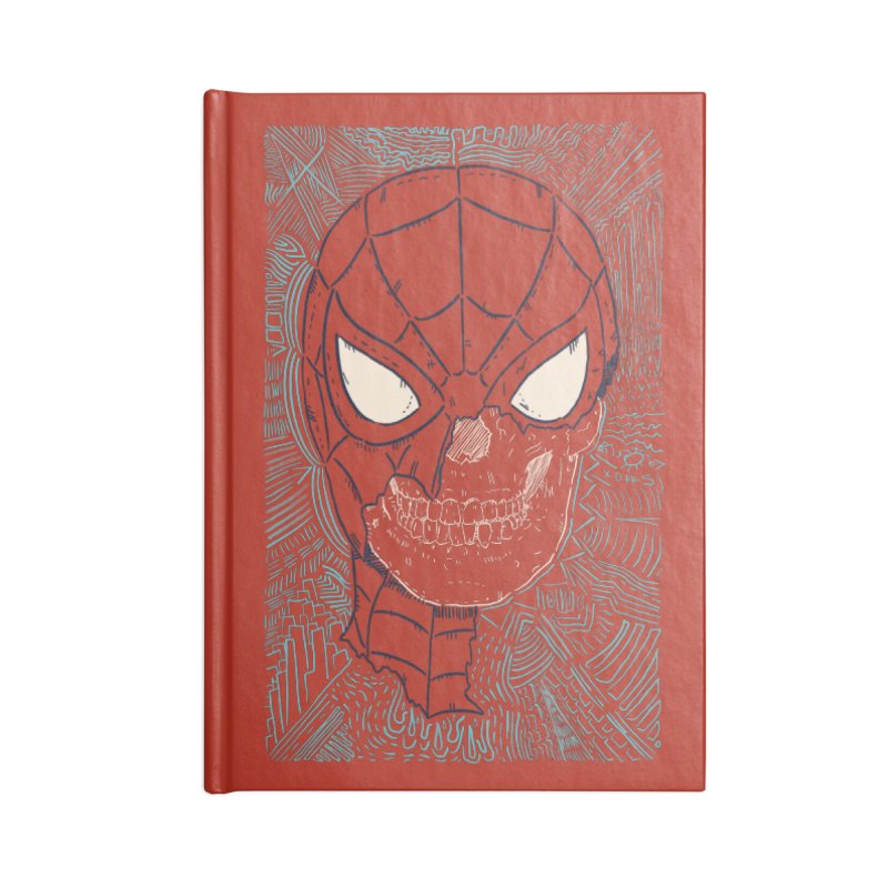Web Slinger Skull Accessories Blank Journal Notebook by Krist Norsworthy Art & Design