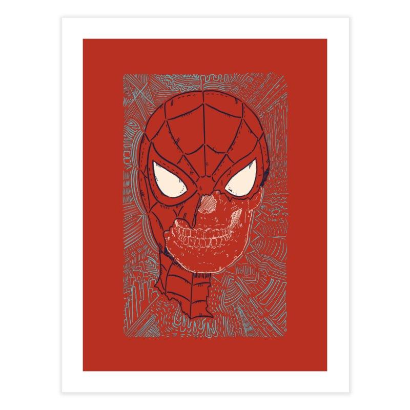 Web Slinger Skull Home Fine Art Print by Krist Norsworthy Art & Design