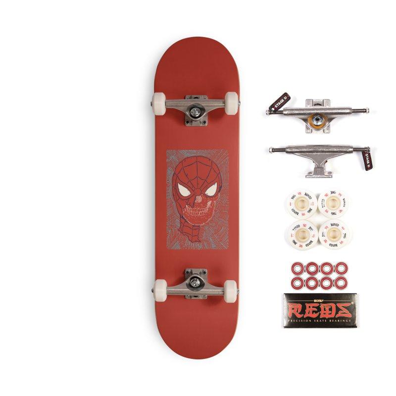Web Slinger Skull Accessories Complete - Pro Skateboard by Krist Norsworthy Art & Design