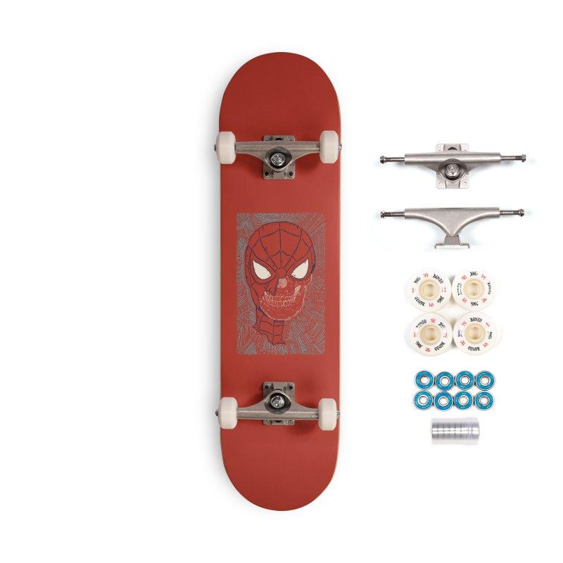 Web Slinger Skull Accessories Complete - Premium Skateboard by Krist Norsworthy Art & Design