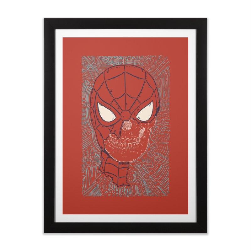 Web Slinger Skull Home Framed Fine Art Print by Krist Norsworthy Art & Design