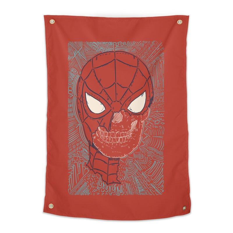 Web Slinger Skull Home Tapestry by Krist Norsworthy Art & Design