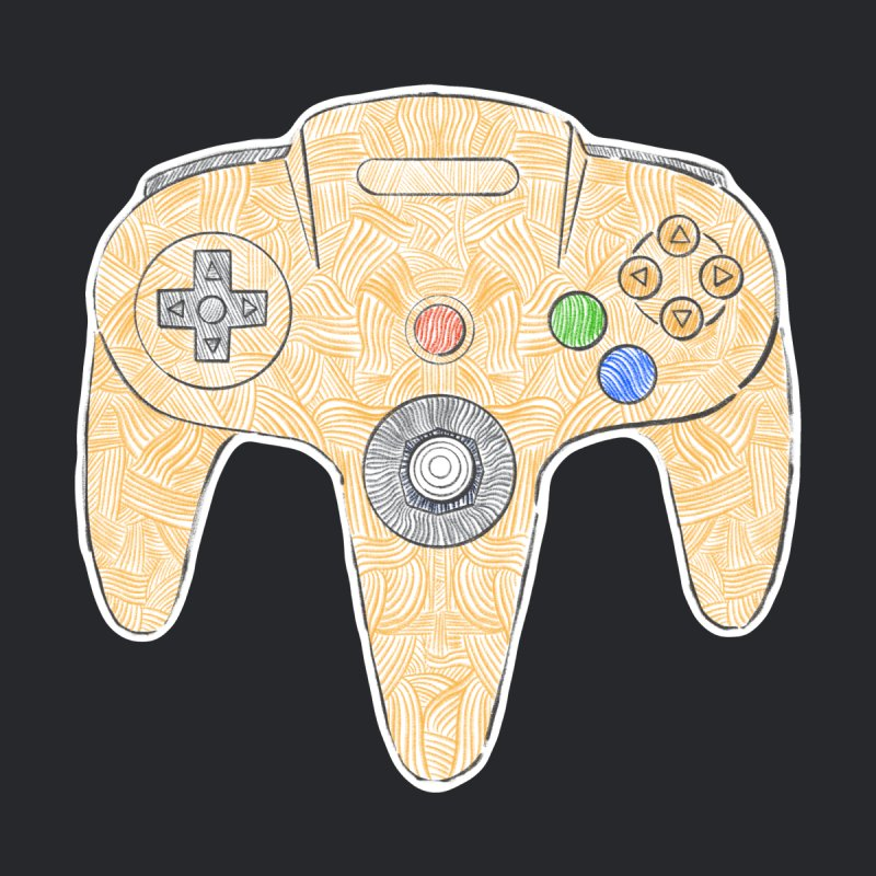 Gamepad SixtyFour - Yellow Men's T-Shirt by Krist Norsworthy Art & Design