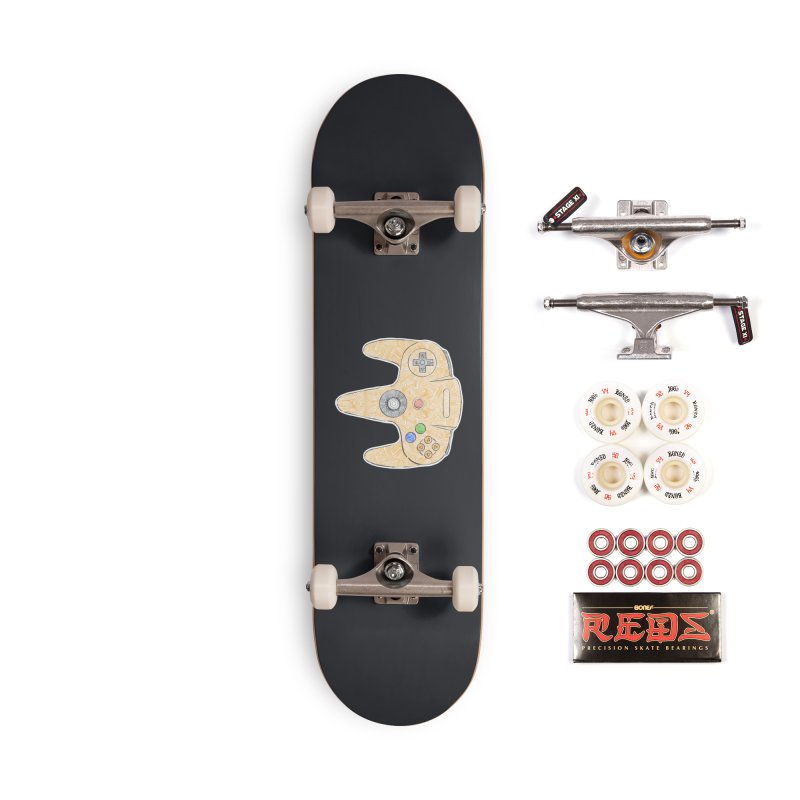 Gamepad SixtyFour - Yellow Accessories Complete - Pro Skateboard by Krist Norsworthy Art & Design