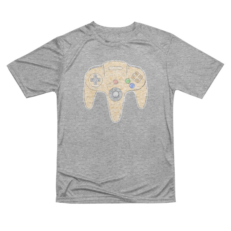 Gamepad SixtyFour - Yellow Women's Performance Unisex T-Shirt by Krist Norsworthy Art & Design