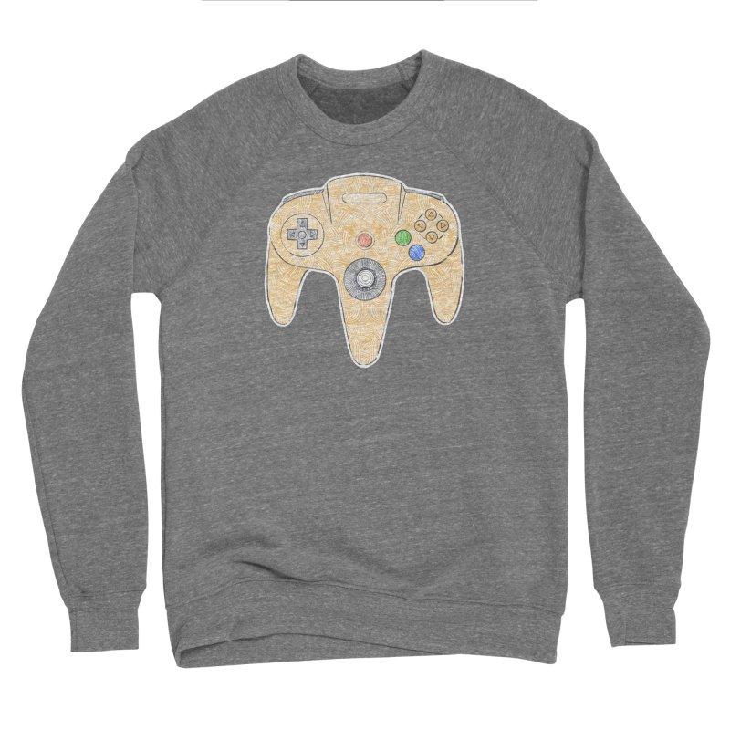 Gamepad SixtyFour - Yellow Men's Sponge Fleece Sweatshirt by Krist Norsworthy Art & Design